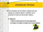 desinfecci n terminal