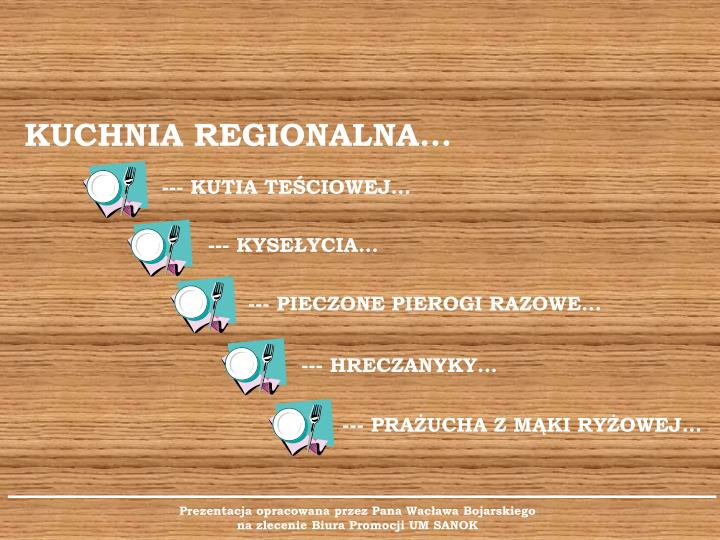 KUCHNIA REGIONALNA...