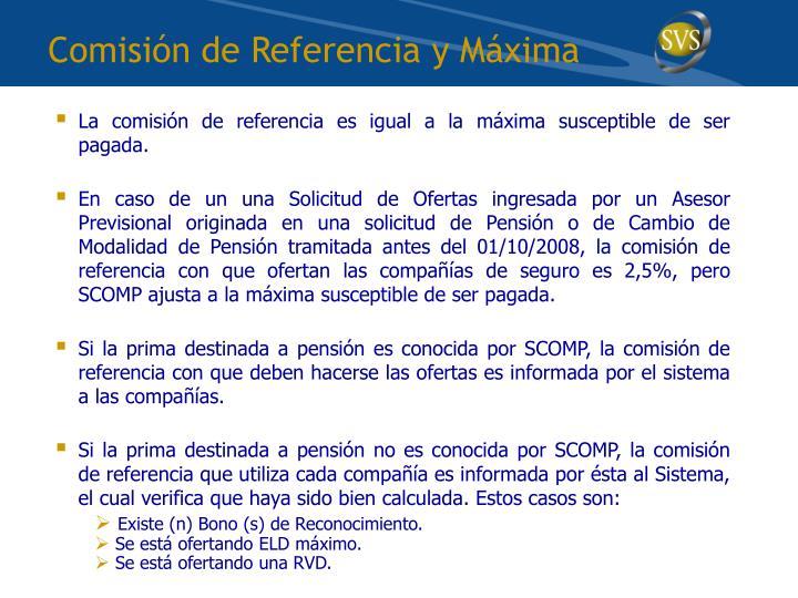 Comisión de Referencia y Máxima