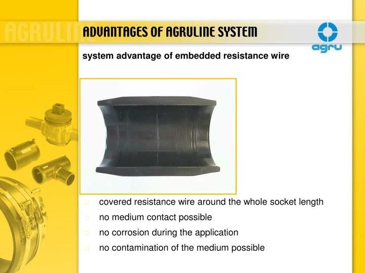 ADVANTAGES OF AGRULINE SYSTEM