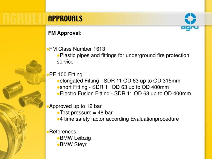APPROVALS