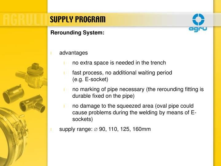 SUPPLY PROGRAM