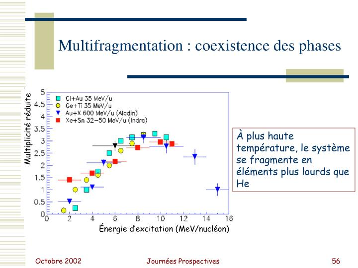 Multifragmentation : coexistence des phases