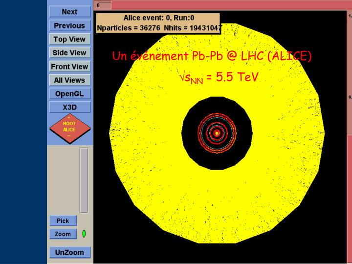 Un événement Pb-Pb @ LHC (ALICE)