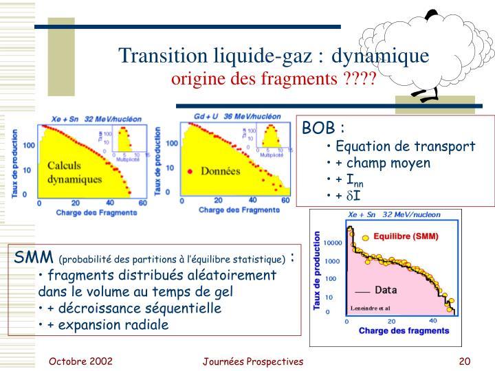 Transition liquide-gaz :