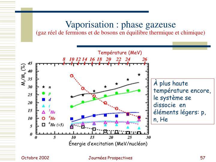 Vaporisation : phase gazeuse