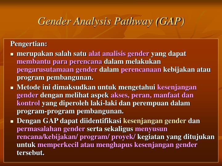 Gender Analysis Pathway (GAP)