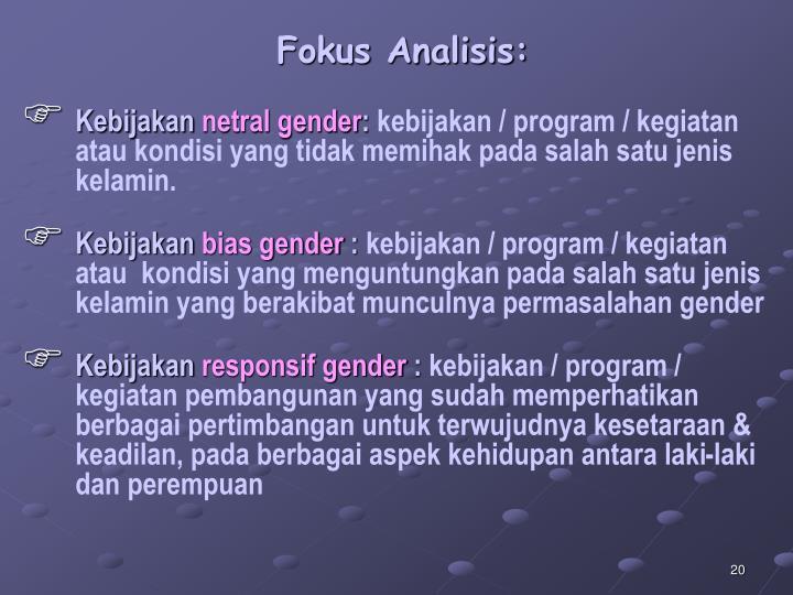 Fokus Analisis:
