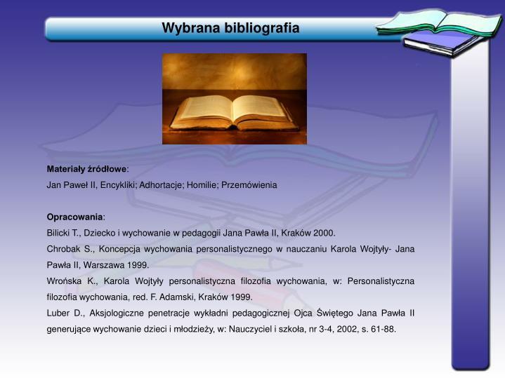 Wybrana bibliografia