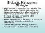 evaluating management strategies