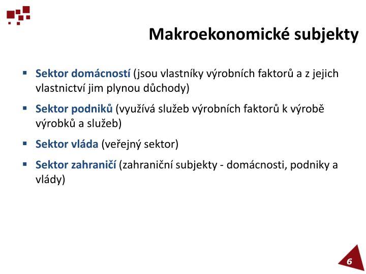 Makroekonomické subjekty