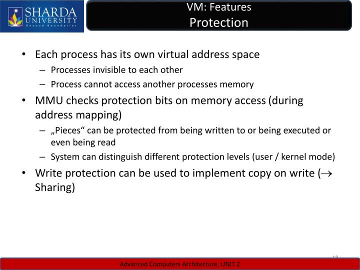 VM: Features