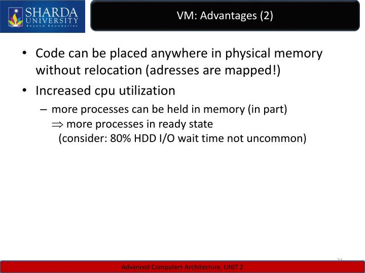 VM: Advantages (2)