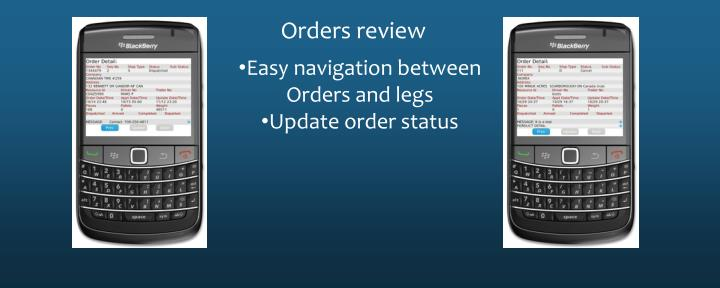 Orders review