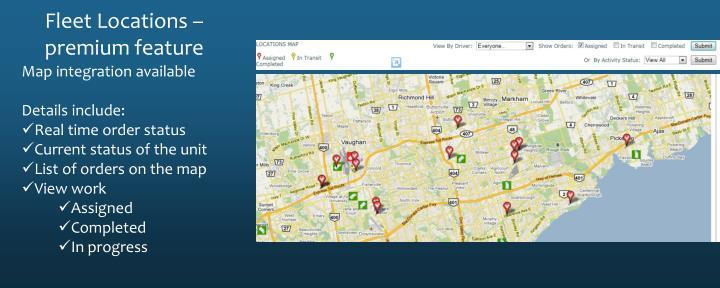 Fleet Locations – premium feature