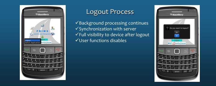 Logout Process