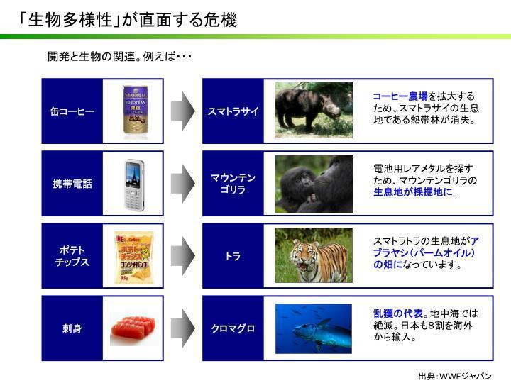 「生物多様性」が直面する危機
