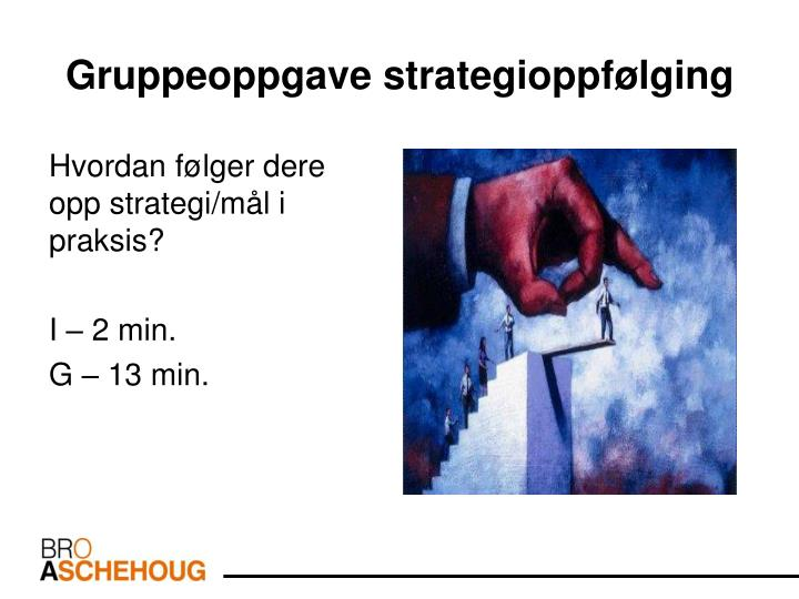 Gruppeoppgave strategioppfølging