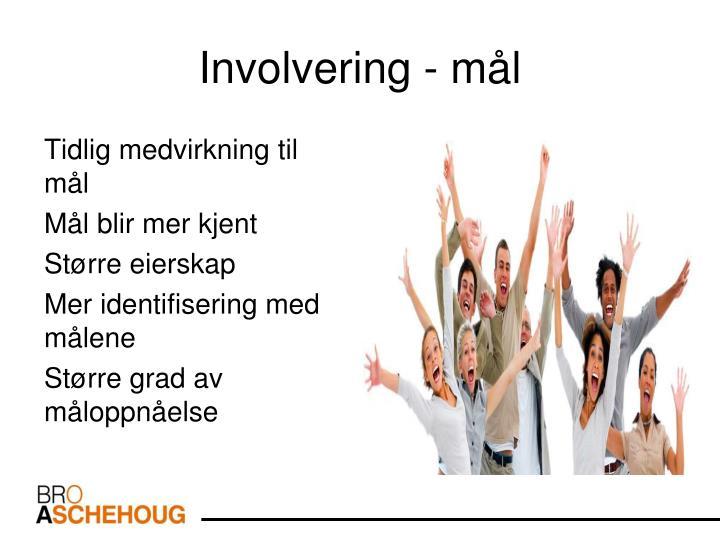 Involvering - mål