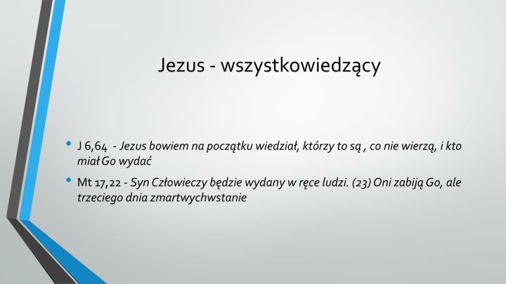 Jezus - wszystkowiedzący