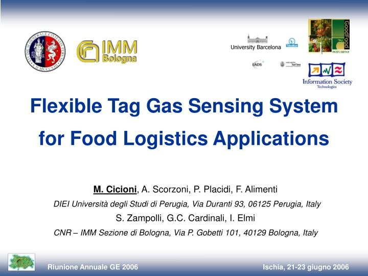 Flexible tag gas sensing system for food logistics applications