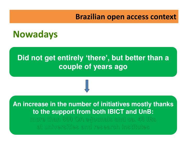Brazilian open access context