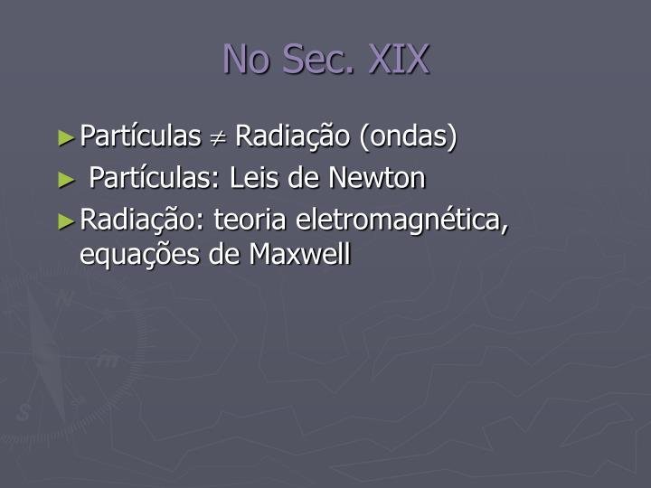 No Sec. XIX