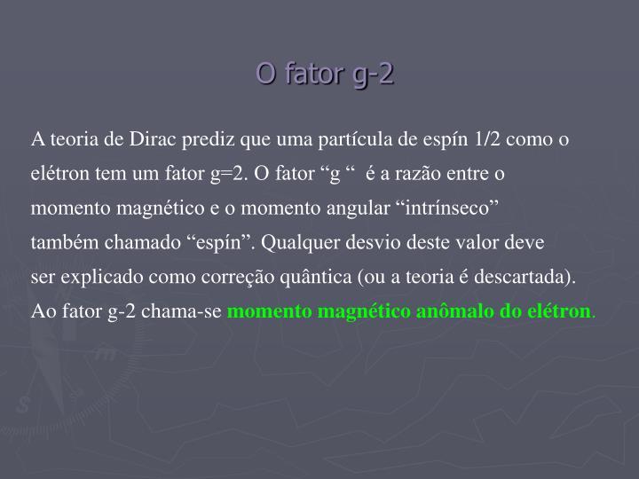 O fator g-2