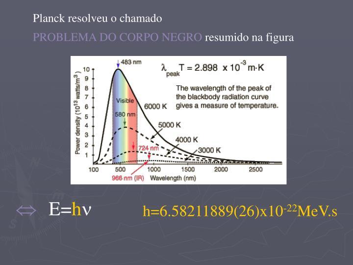 Planck resolveu o chamado