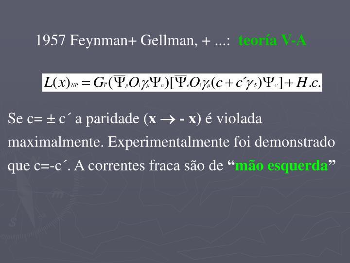 1957 Feynman+ Gellman, + ...: