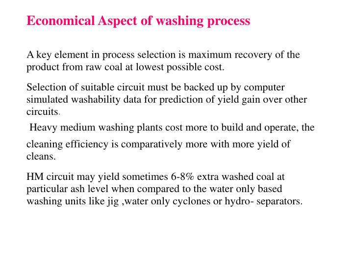 Economical Aspect of washing process