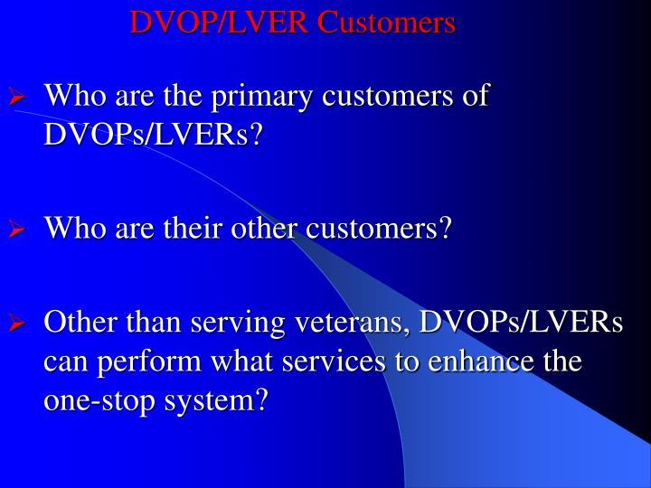 DVOP/LVER Customers