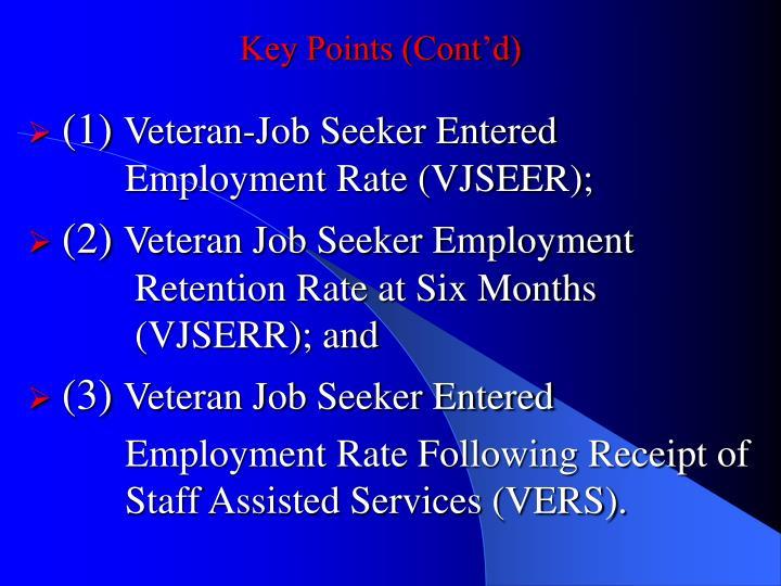 Key Points (Cont'd)