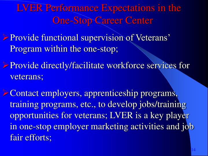 LVER Performance Expectations in the
