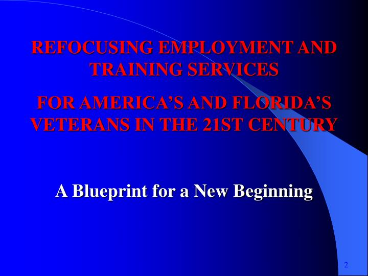 REFOCUSING EMPLOYMENT AND TRAINING SERVICES
