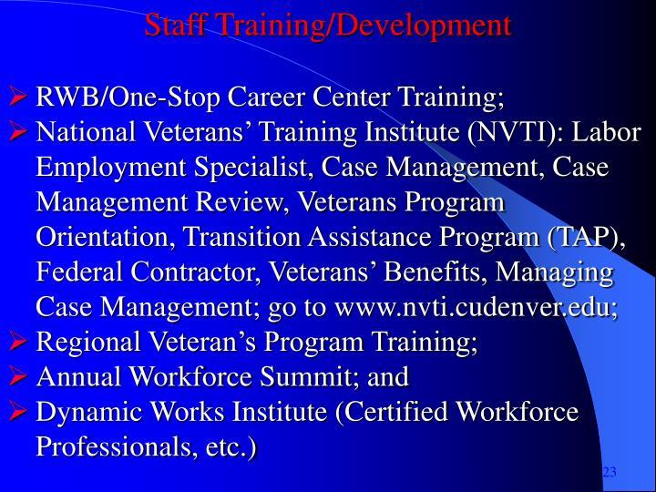 Staff Training/Development