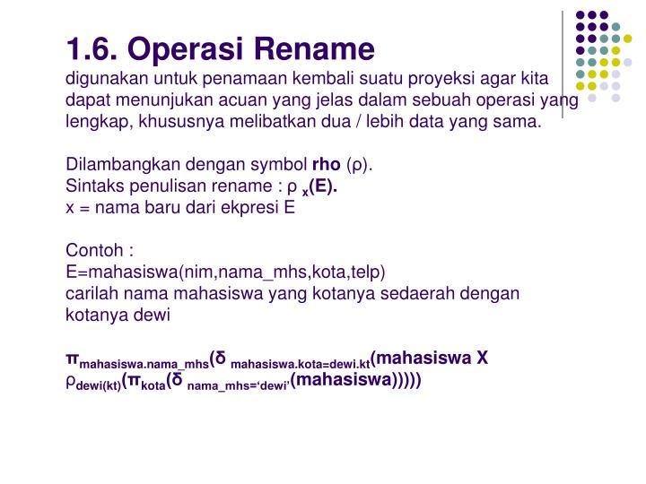 1.6. Operasi Rename