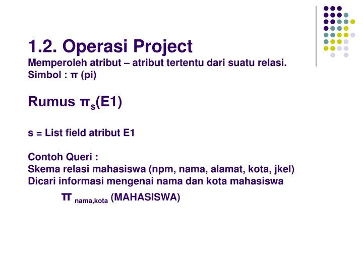 1.2. Operasi Project