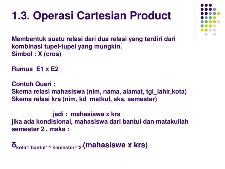 1.3. Operasi Cartesian Product