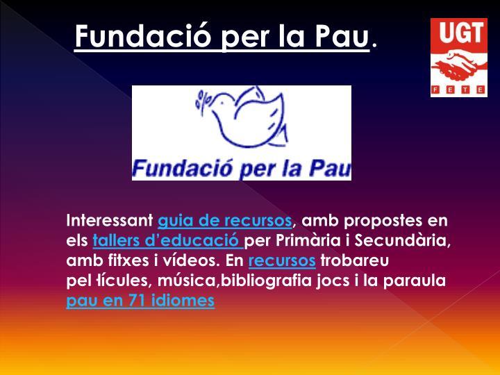 Fundació per la Pau