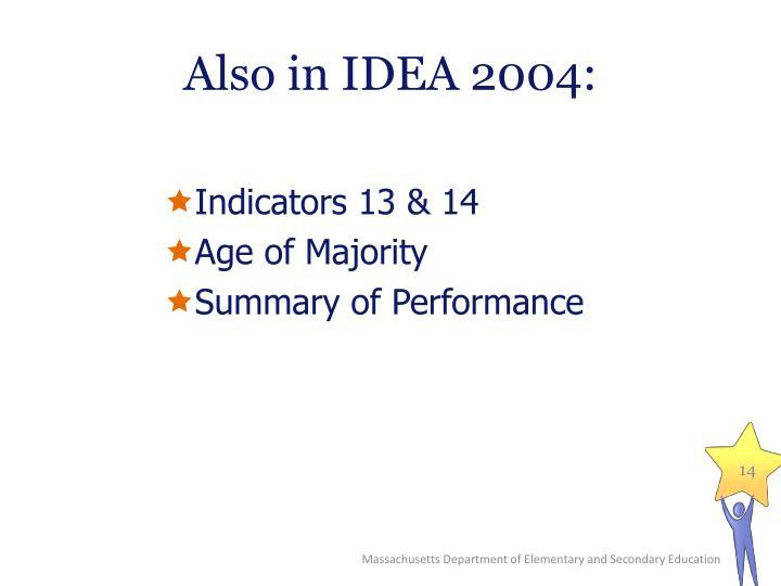 Also in IDEA 2004: