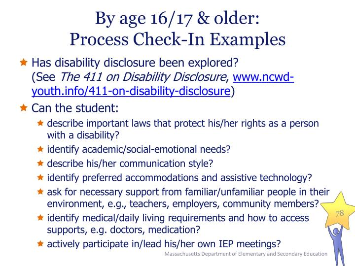 By age 16/17 & older: