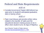 federal and state requirements1