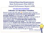 federal reporting requirements state performance plan spp annual performance report apr