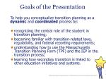 goals of the presentation