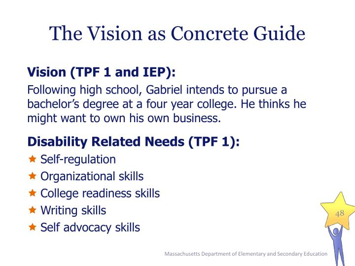 The Vision as Concrete Guide