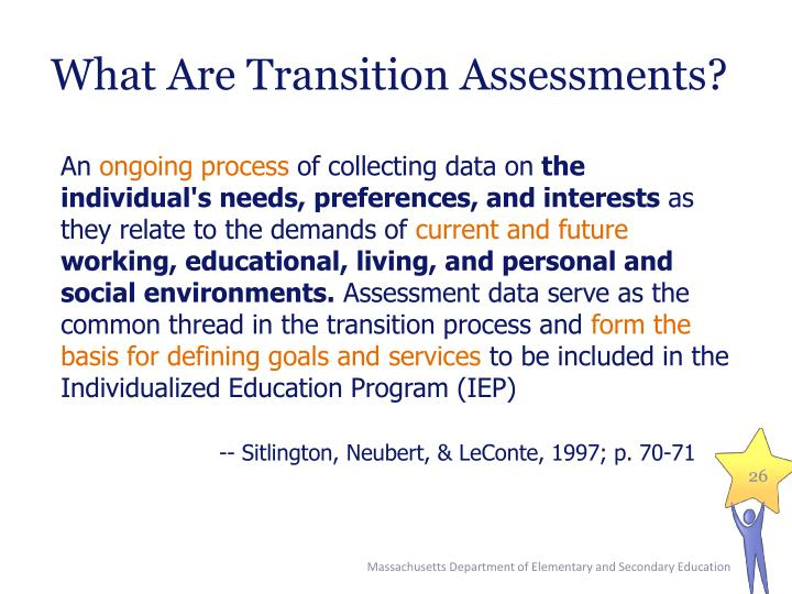 What Are Transition Assessments?