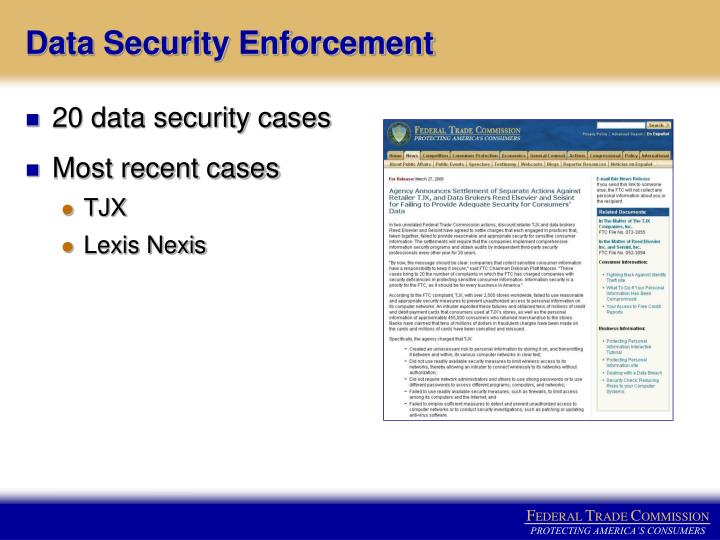 Data Security Enforcement