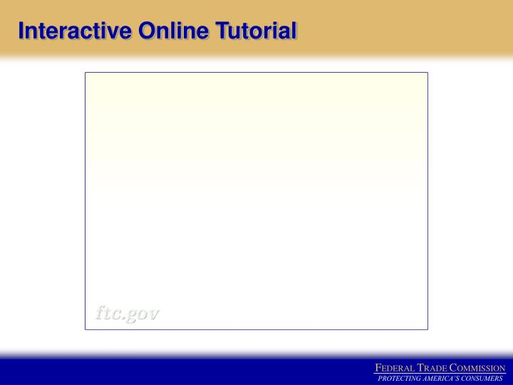 Interactive Online Tutorial