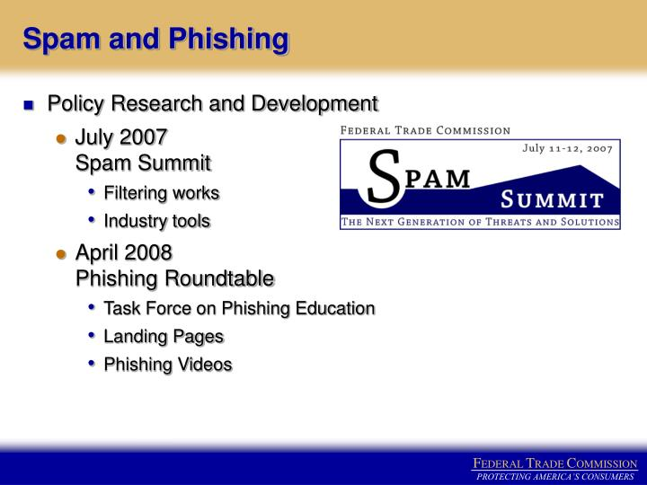 Spam and Phishing